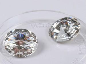 Kristali SWAROVSKI rivoli 14mm chrystal AB