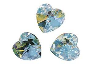 Kristali srca SWAROVSKI polnočni kamen